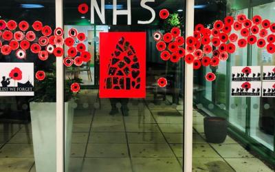 Armistice Day 2020: Charlton Lane Hospital Poppy Display