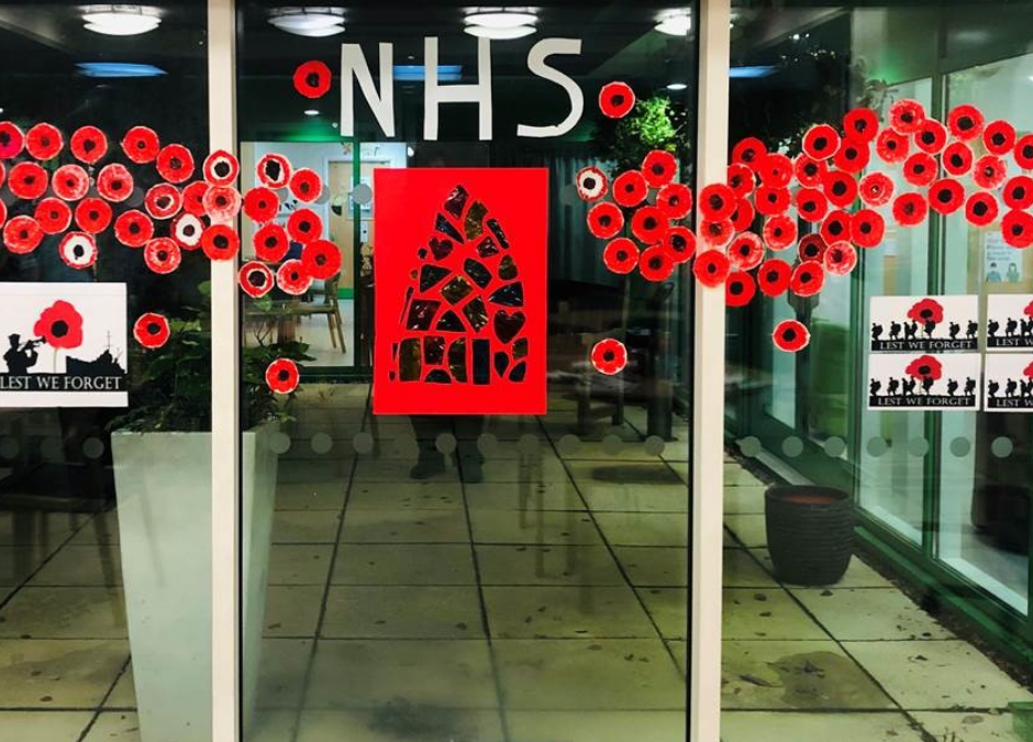 Armistice Day 2020: Charlton Lane Hospital Poppy Display