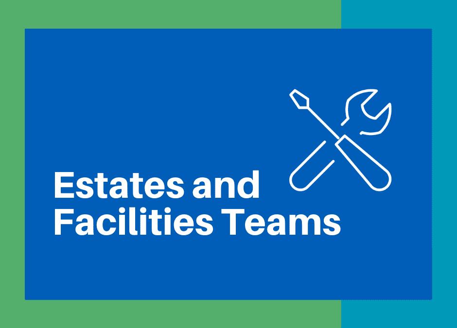 Illustration of work tools - 'Estates and Facilities Team'