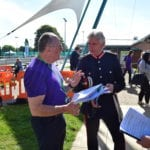 Lord-Lieutenant, Edward Gillespie OBE arrives at Big Health Check Day