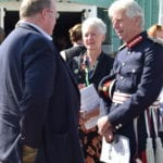 Lord-Lieutenant, Edward Gillespie OBE meets attendees at the event