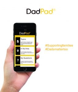 Photo of the Dad Pad App