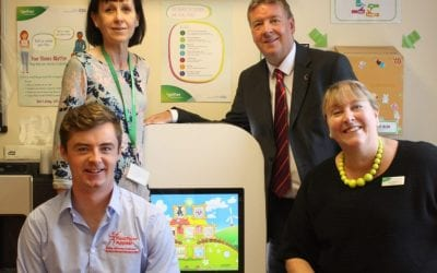 Trust thanks Pied Piper Appeal for interactive screens for childrens waiting areas