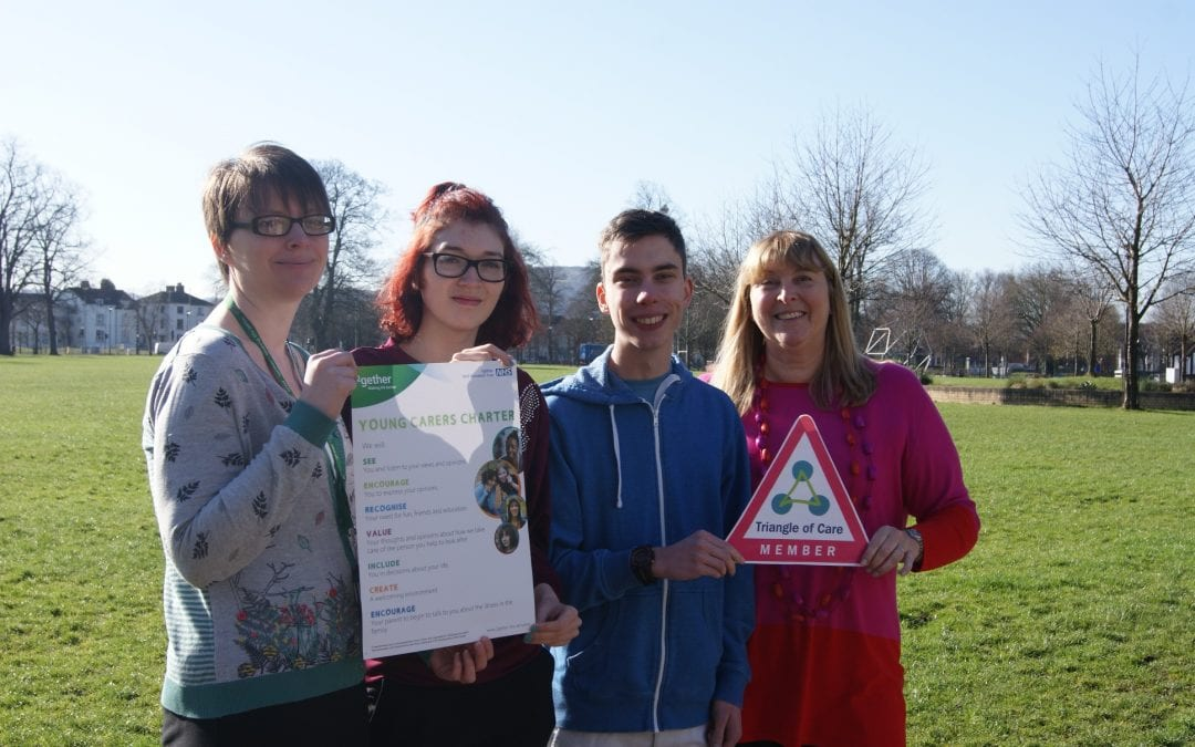 ²gether and Gloucestershire Young Carers launch young carers Triangle of Care