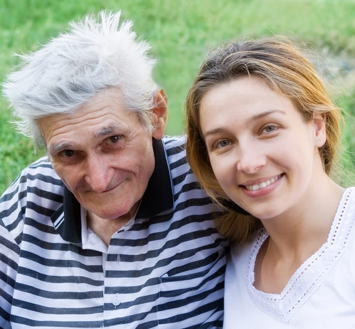 Carers - older man and younger woman.